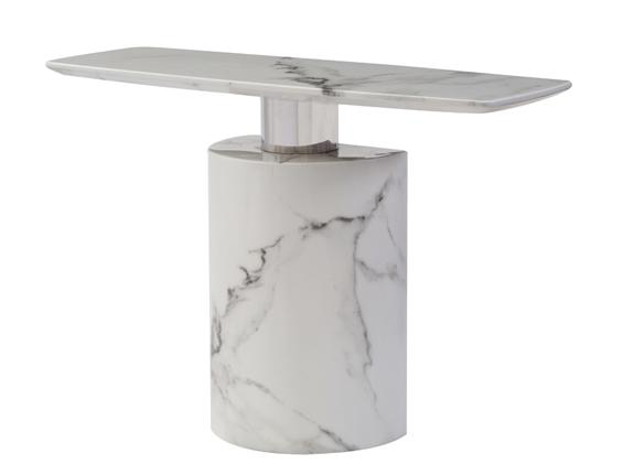 Geneva Marble Console Table Console Table Adore Home Living