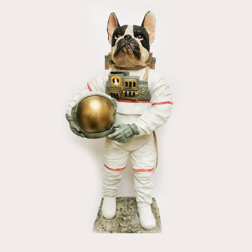 Tall Astronaut Dog Decor Ornament Adore Home Living