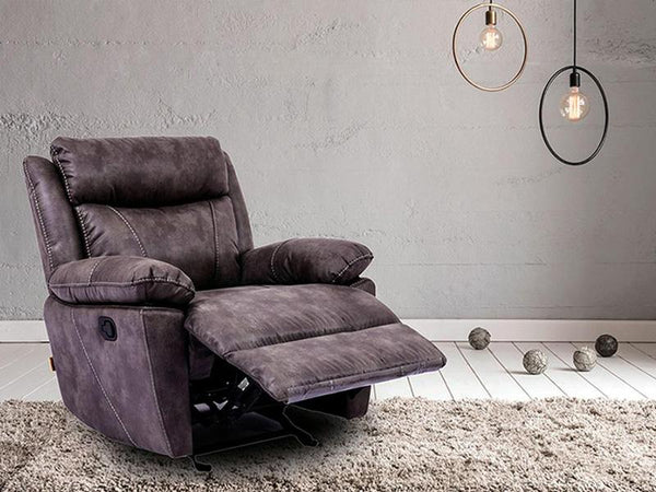 Emerson Single Recliner Chair Fabric Lounge Adore Home Living