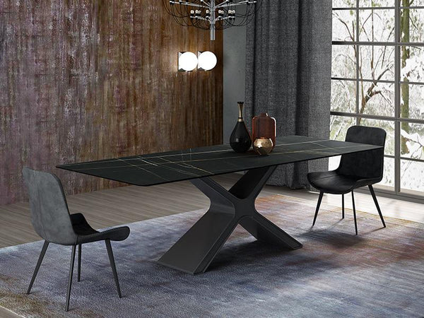 Henderson Ceramic Top Dining Table Dining Table Adore Home Living
