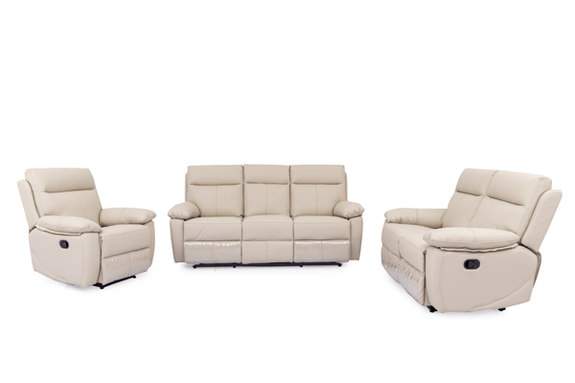 Boulevard 3PC Leather Recliner Suite Leather Lounge Adore Home Living