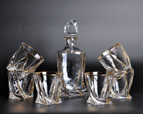 Aaron Spirit Decanter Set: Decanter & 6 Tumblers