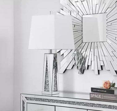 Rose Mirrored Table Lamp