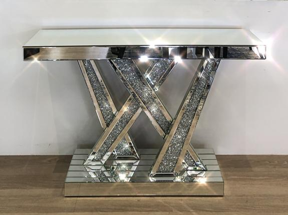 Quinn Diamond Console Table Mirror Console Adore Home Living