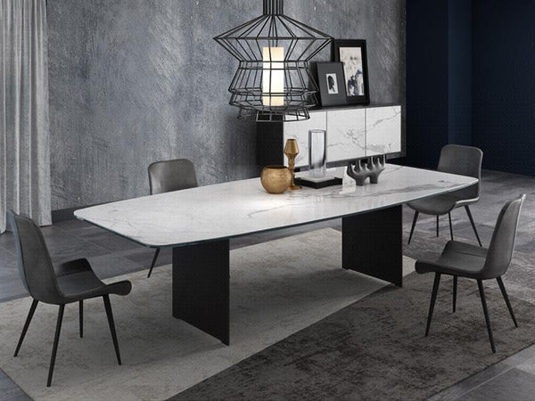Morgan Ceramic Top Dining Table Dining Table Adore Home Living