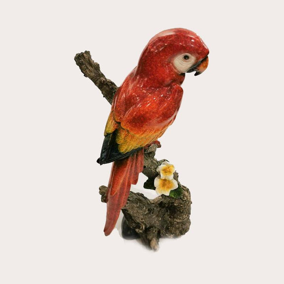 King Parrot Orange Flower Decor Ornament Adore Home Living