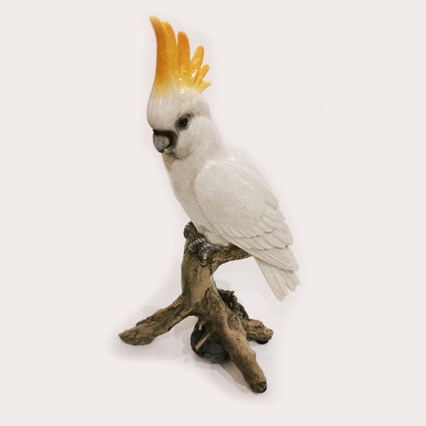 Single Cockatoo Sculpture Decor Ornament Adore Home Living