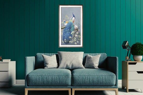 Porcelain Painting:Elegant Peacock - Order Only Porcelain Painting Adore Home Living