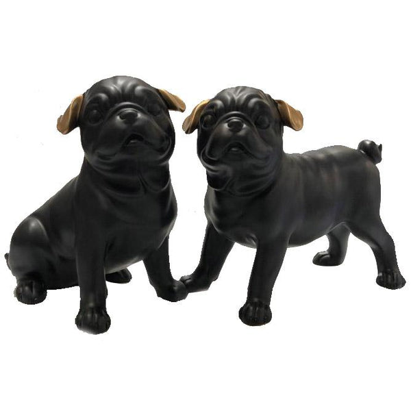 Pair of little Cute Pugs Adore Home Living