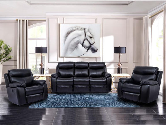Sophia 3PC Leather Recliner Suite Deal Leather Lounge Adore Home Living