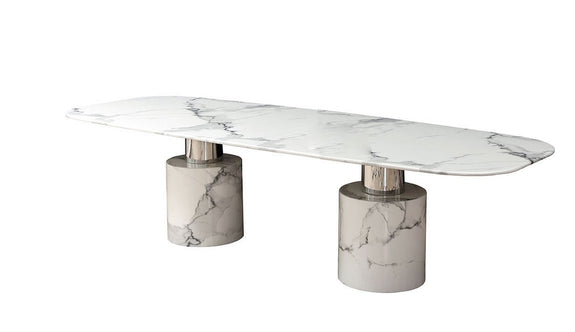Geneva Marble Dining Table Dining Table Adore Home Living