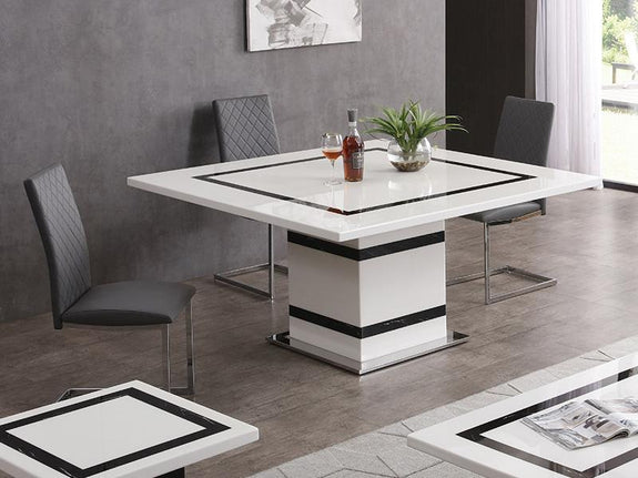 Tahana Marble 9PC Dining Set Dining Set Adore Home Living