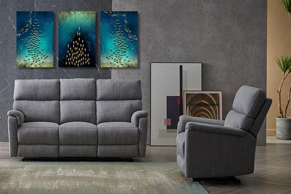 Diamond Painting Set of 3 Shoaling and Schooling Diamond Wall Art Adore Home Living