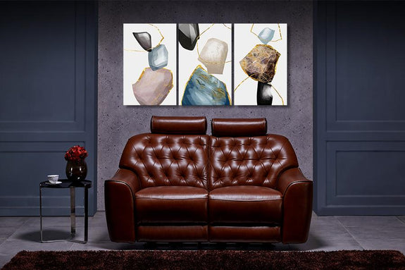 Diamond Painting Set of 3 Hearts of Stone - Order Only Diamond Wall Art Adore Home Living