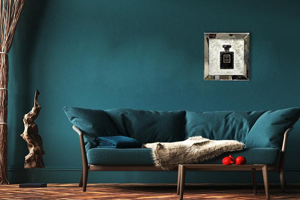 Mirrored  Painting: Coco Noir Chanel Mirrored Painting Adore Home Living