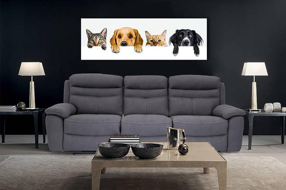 Acrylic Painting: Cat & Dog with Paws up Acrylic Printed Painting Adore Home Living