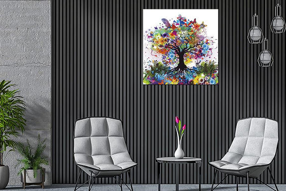 Colourful Tree Acrylic Wall Art Acrylic Printed Painting Adore Home Living
