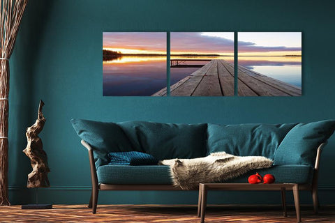Jetty Sunset Acrylic Wall Art Set of 3 - Order Only