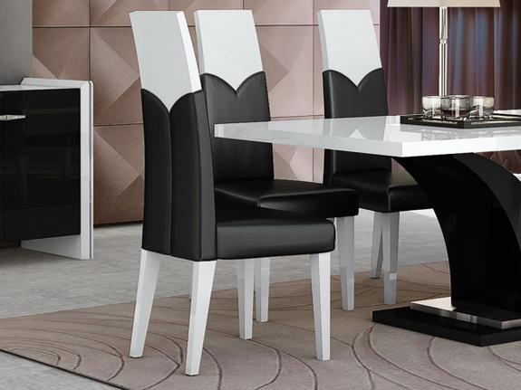 Zackary High Gloss Dining Table Dining Chair Adore Home Living