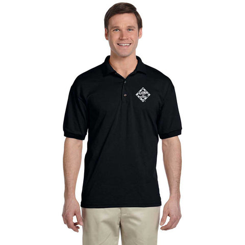 God At Work Embroidered Short Sleeve Polo - Black