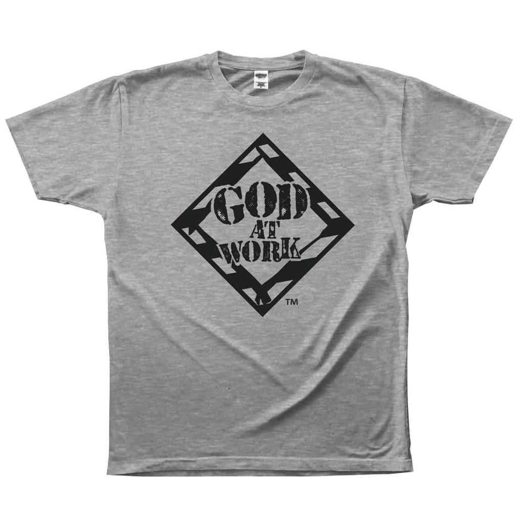 God At Work Adult T - Gray