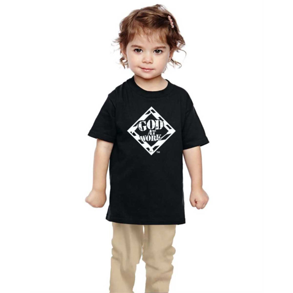 God At Work Kids T - Black