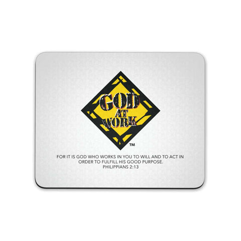 God At Work - Mouse Pad