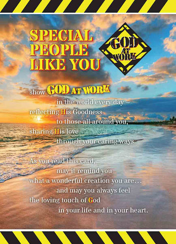 God At Work 5 x 7 Prayer Card - Special People
