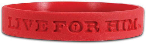 Live For Him - Christian Rubber Wristband