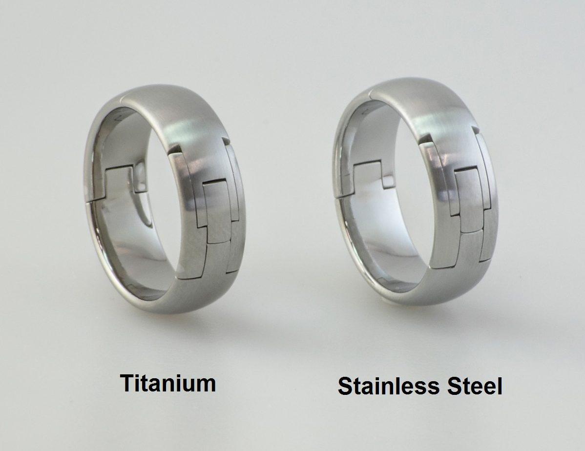 Titanium or stainless steel rings