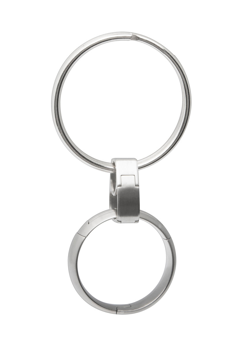pinch operated Key-Ring Clip ring holder, U.S. made, Titanium and stainless steel
