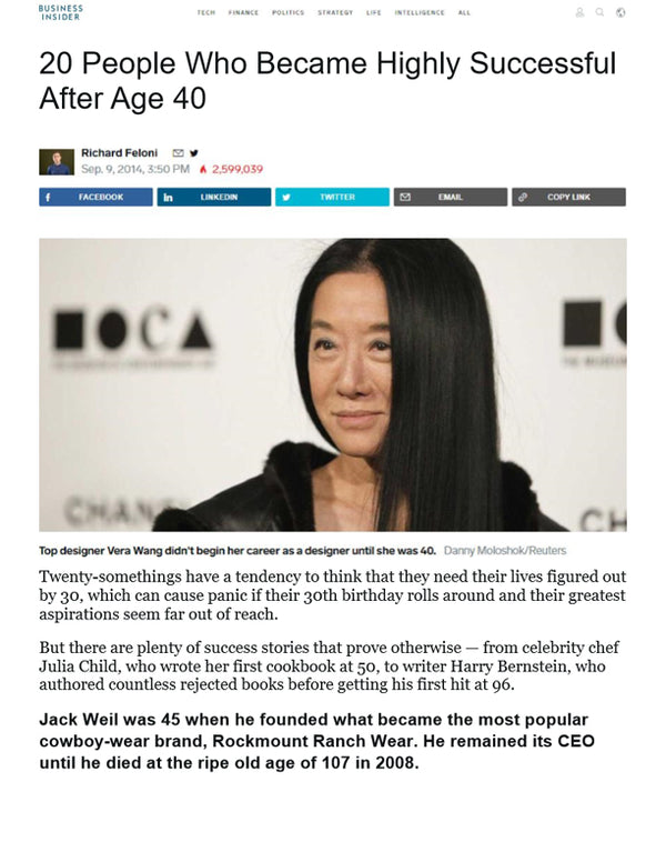 Business Insider - 20 People Who Became Highly Successful After Age 40