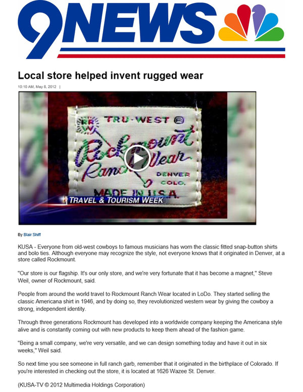 KUSA - Local store helped invent rugged wear