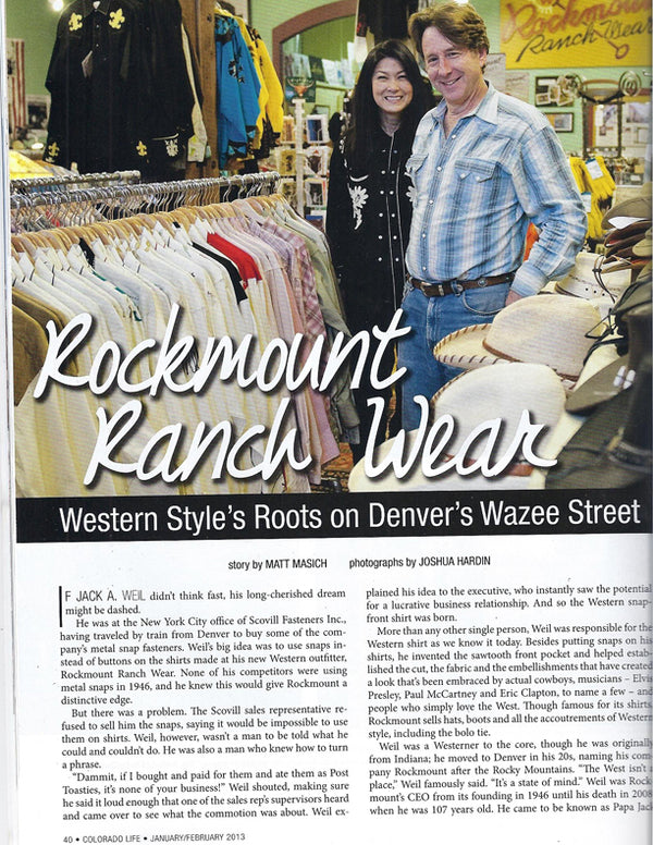 Colorado Life - Western Style's Roots on Denver's Wazee Street