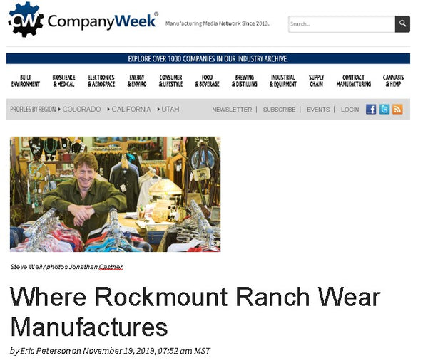Company Week - Where Rockmount Ranch Wear Manufactures