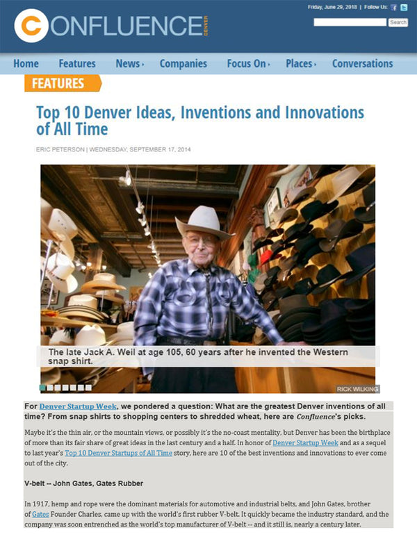 Confluence Denver - Top 10 Denver Ideas, Inventions and Innovations of All Time