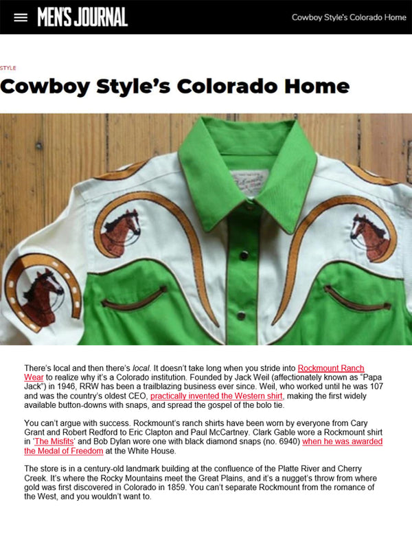 Men's Journal - Cowboy Style's Colorado Home