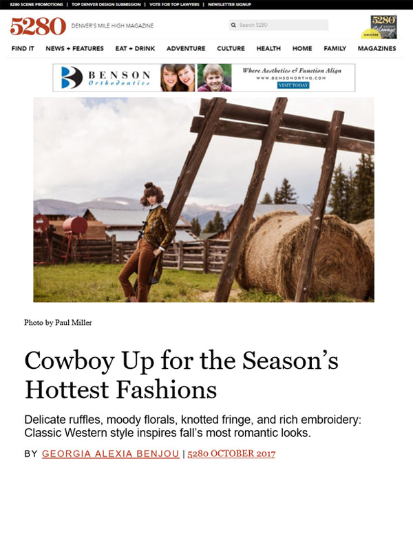 5280 - Cowboy Up for the Season's Hottest Fashions