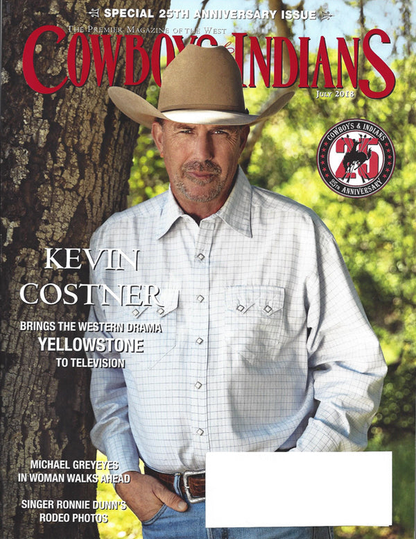 Cowboys & Indians - Kevin Costner in Rockmount shirt on the cover of Cowboys & Indians