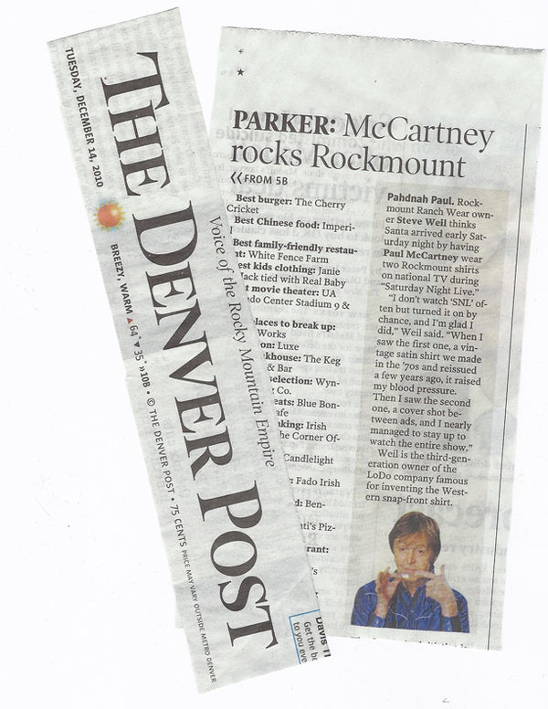 The Denver Post - Parker: McCartney rocks Rockmount