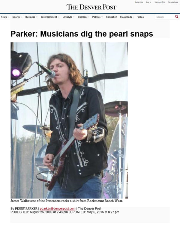 The Denver Post - Parker: Musicians dig the pearl snaps
