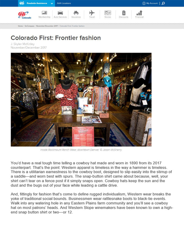 EnCompass - Colorado First: Frontier Fashion