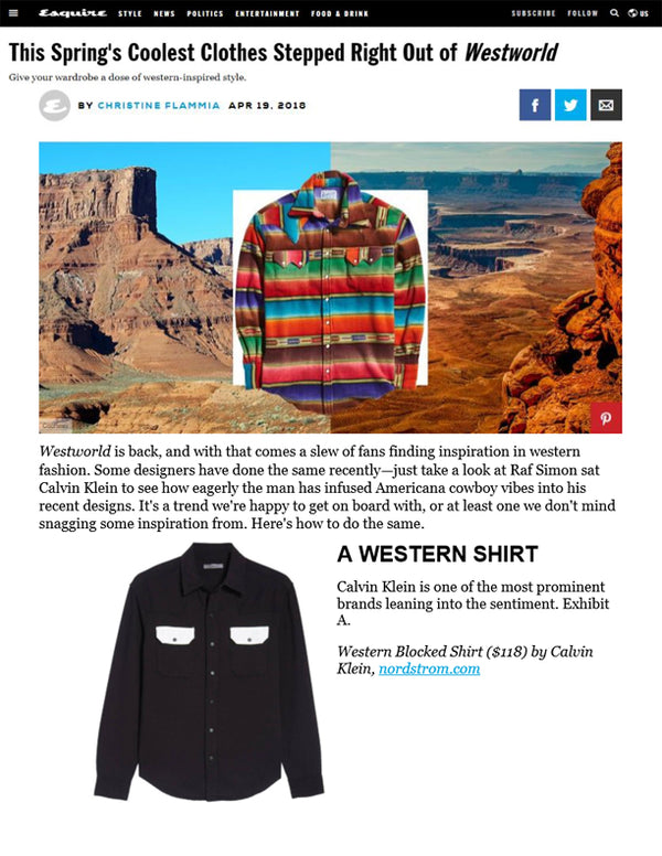Esquire - This Spring's Coolest Clothes Stepped Right Out of Westworld