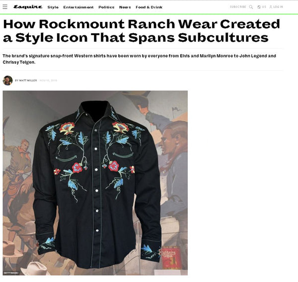 Esquire - How Rockmount Ranch Wear Created a Style Icon that Spans Subcultures