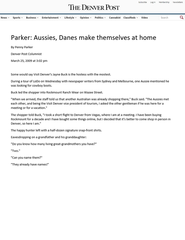 The Denver Post - Parker: Aussies, Danes make themselves at home