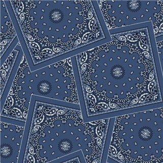 Bandana Print Blue Fleece Blanket - Rockmount