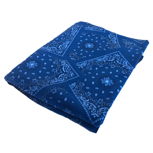 Bandana Print Blue Fleece Blanket