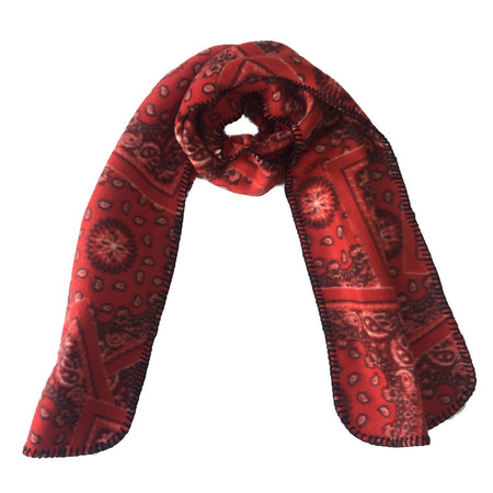 Broncs & Brands Red Silk Tie