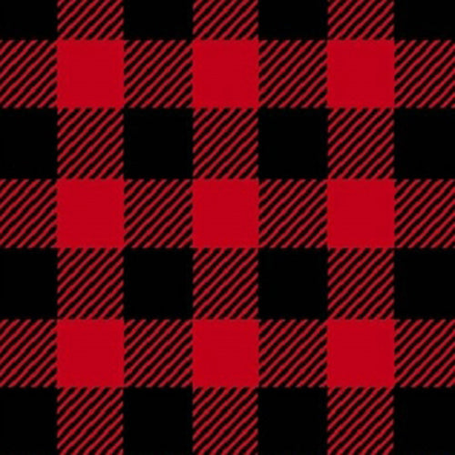 Buffalo Check Pattern Fleece Western Poncho