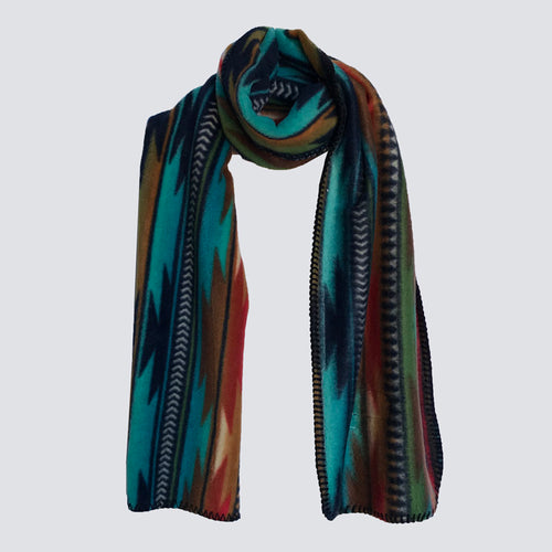 Native Print Fleece Scarf